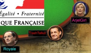 Hollande poker Le pen sarkozy