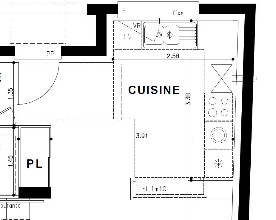 Conception cuisine d id es de d coration et de mobilier for Amenagement cuisine 10m2